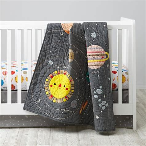 Space Themed Crib Bedding Space Crib Bedding The Land Of Nod