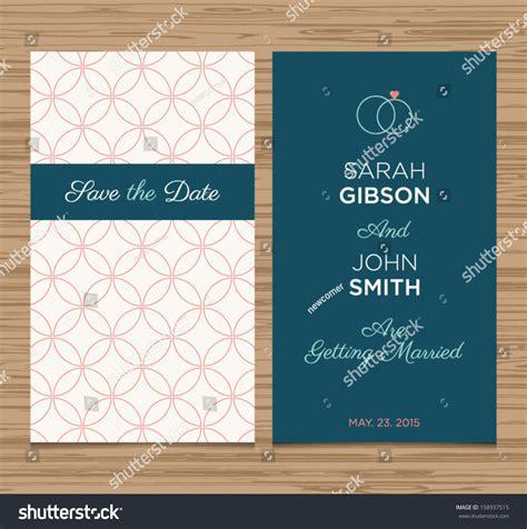 wedding card invitation template editable pattern stock