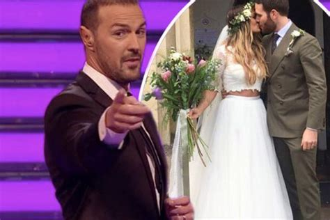 paddy mcguinness wedding photos paddy mcguinness wasn t invited to take me out couple adam
