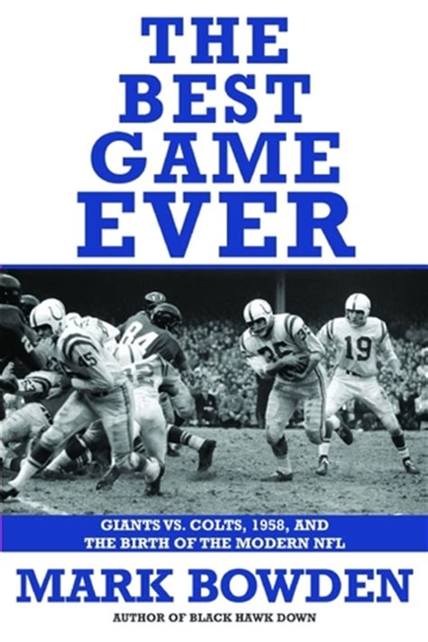 The Best Modern Novel by Read The Best Giants Vs Colts 1958 And The
