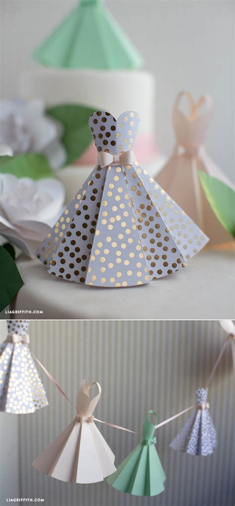 bridal shower crafts ideas paper dress diy wedding decorations origami craft and