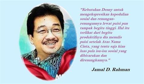 membuat esai puisi indonesia dalam puisi denny ja harus ada yang terpanggil