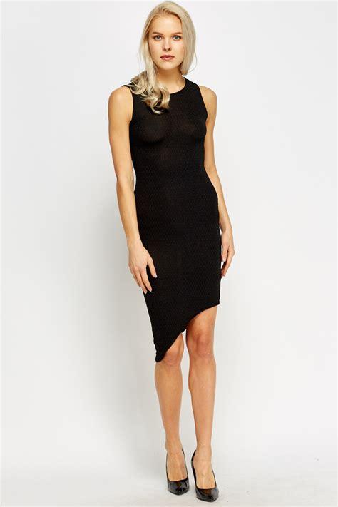 Asymmetric Bodycon Dress metallic asymmetric bodycon dress black just 163 5