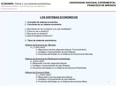 preguntas basicas sobre economia sistemas econ 243 micos 2