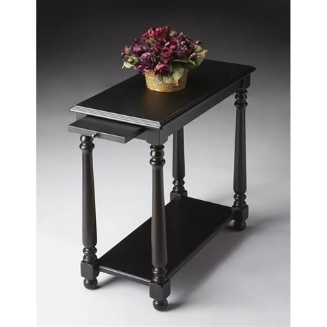 black living room end tables butler specialty chairside table in black licorice 5017111