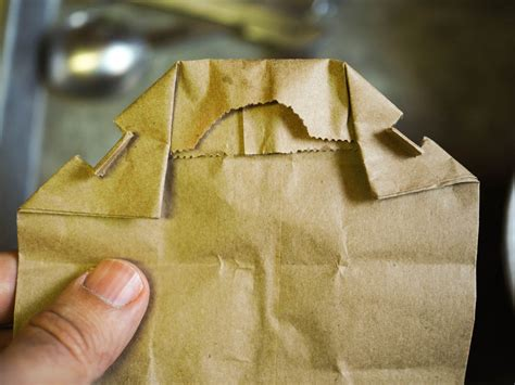 Paper Bag Folding - how to make microwave popcorn in a brown paper bag