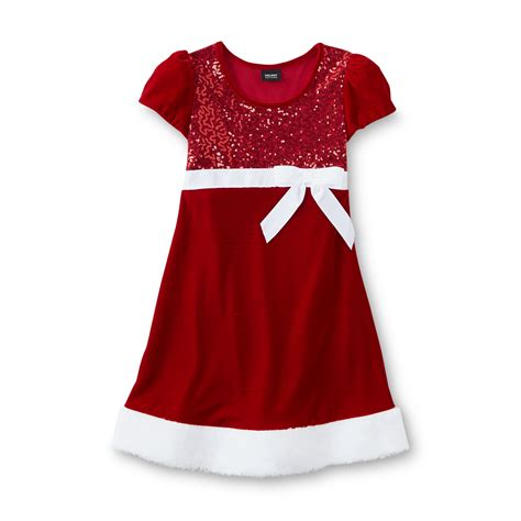 holiday editions girl s embellished velour christmas dress