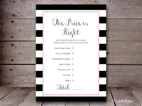 Baby Shower Price Is Right Logo by Black And White Baby Shower Price Is Right Logo Pictures
