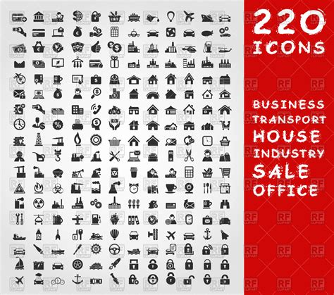 clipart collection collection of different theme icons royalty free vector