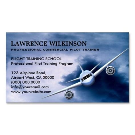 aviation business cards templates commercial plane in sky aviation business cards