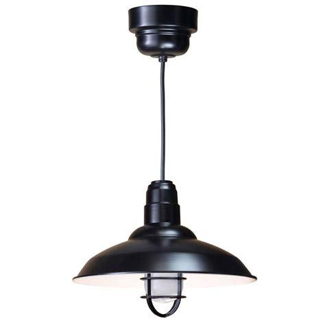 Fluorescent Pendant Light Illumine 1 Light Ceiling Black Fluorescent Pendant Cli 431 The Home Depot