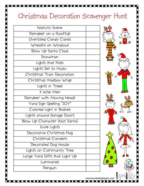 printable christmas light scavenger hunt love this christmas decorations scavenger hunt simply