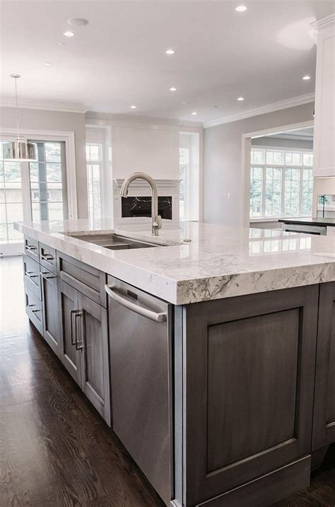 kitchen island marble top 2018 contrasting island bench with marble top kitchens farmhouse kitchen cabinets grey kitchen