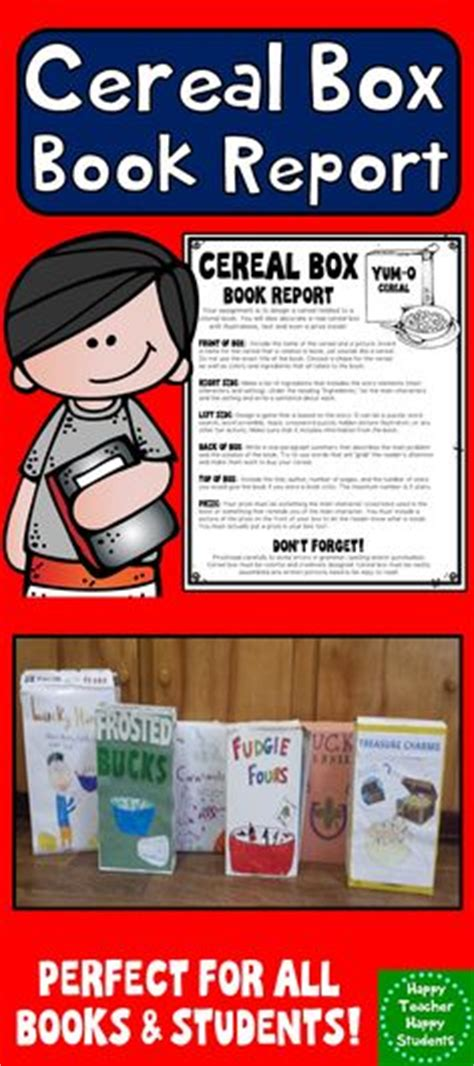 cereal box book report sles 1000 ideas about student book boxes on