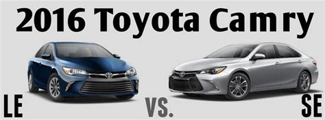 Toyota Camry Le Vs Se 2017 Toyota Camry Exterior Colors And Features