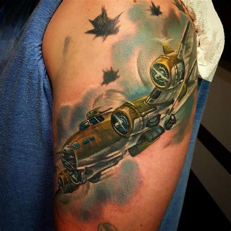 tattoo of us ryan b17 bomber by ryan muldoon tattoonow