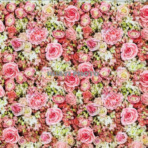 wallpaper bunga portrait pink flowers bed vinyl photography backdrop vintage floral
