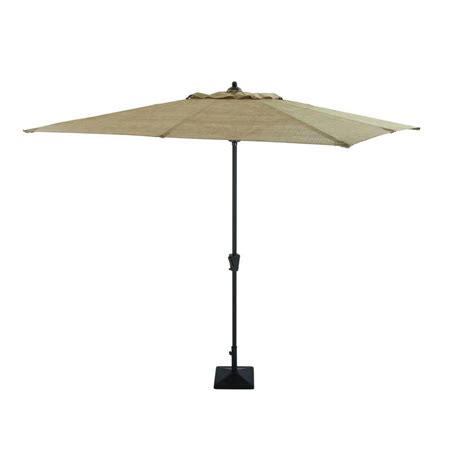 Hton Bay Andrews 8 Ft Patio Umbrella In Tan Ucs00301g Home Depot Patio Umbrellas