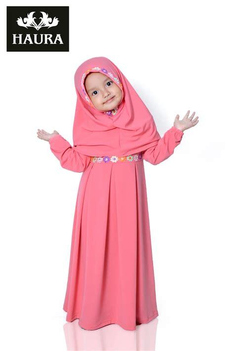 Baju Muslim Anak Perempuan L Merah Pbm193 jual baju muslim gamis anak perempuan haura busana
