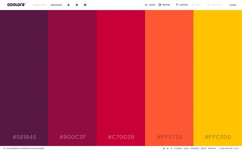 color pallette best color palette generators html color codes