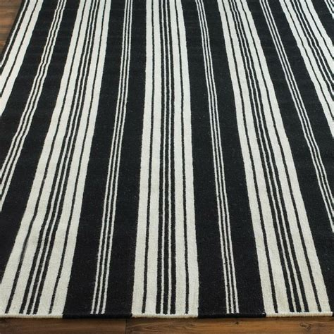 black and white stripe rugs black and white oxford stripe rug in black white