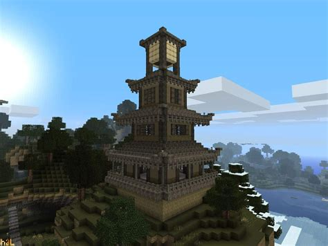 large pagodatower minecraft building