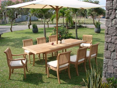 7 pc teak dining set garden outdoor patio furniture r09 giva deck collection ebay
