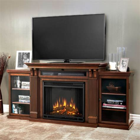 Real Fireplace Tv Stand by Real 7720e De Calie Tv Stand W Ventless Electric Fireplace In Espresso