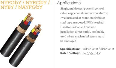 Kabel Nyfgby Dilema Kabel Pvc Armoured Nyrgby And Nyfgby Mke Cables