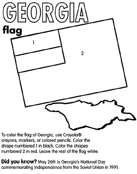 crayola coloring pages maps georgia nation coloring page crayola com