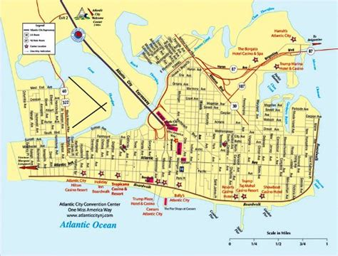 atlantic city casinos map what hotels are on the boardwalk in atlantic city