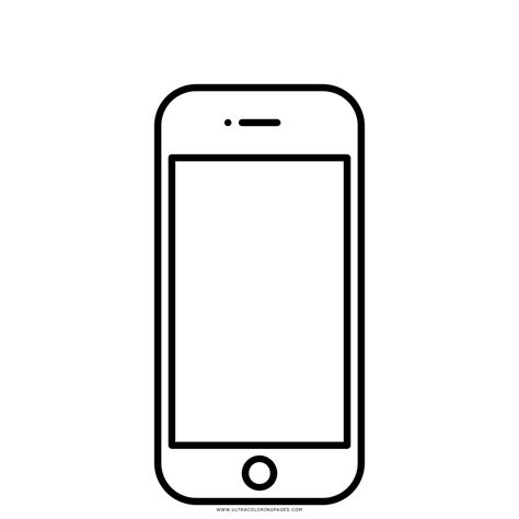 Iphone 8 Coloring Page by Dibujo De Iphone 4 Para Colorear Ultra Coloring Pages