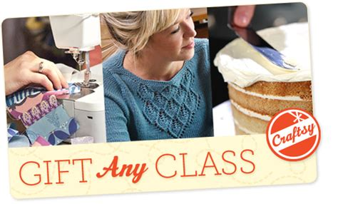 Craftsy Gift Card - buy a craftsy giftcard to give any class free