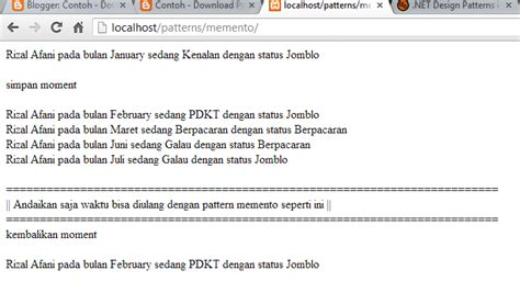 pattern memento java pattern memento di java c dan php contoh download