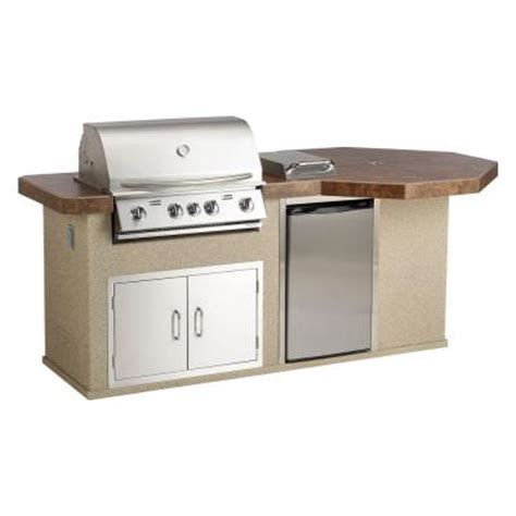 home depot outdoor kitchens bull outdoor products aspen q ii outdoor kitchen island