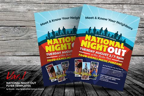 National Out Flyer Template Free National Night Out Flyer Templates By Kinzi21 Graphicriver