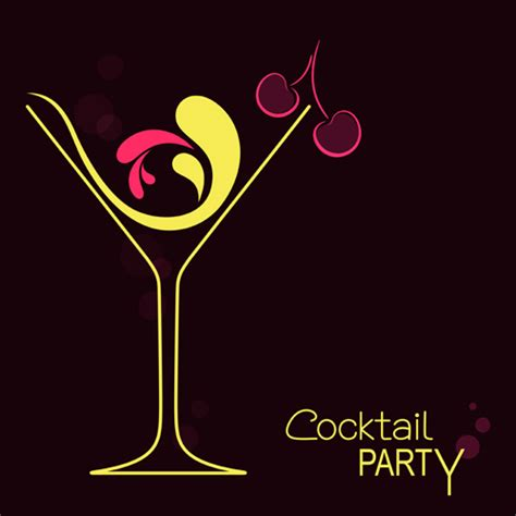 cocktail vector cocktails logos creative vector material 05 vector logo