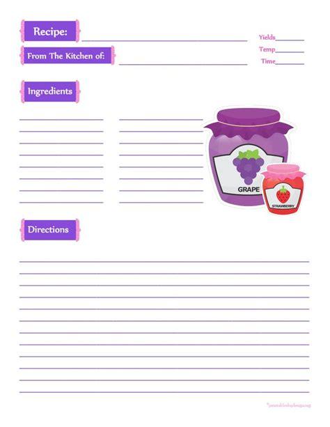 jar recipe card template jam jars recipe card page printable recipe cards