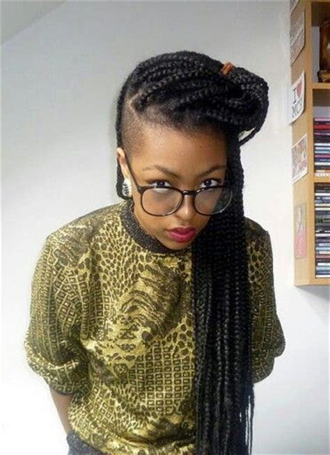 side shaved with senegalese twist shaved side box braids box braids locs twists
