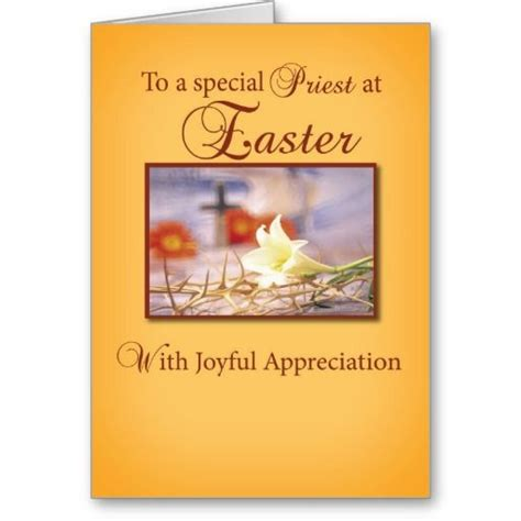 Catholic Easter Card Template by Easter Priest Appreciation Cards Easter Celebrations