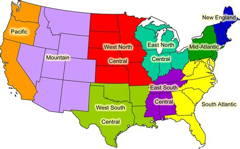 regional united states map the state of a region introduction