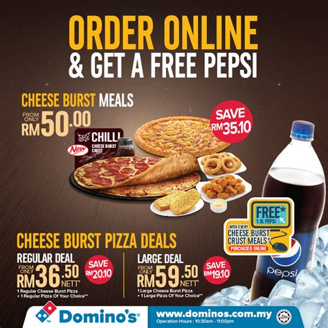 domino pizza no domino s pizza order online get a pepsi free food