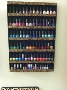 diy nail wall rack