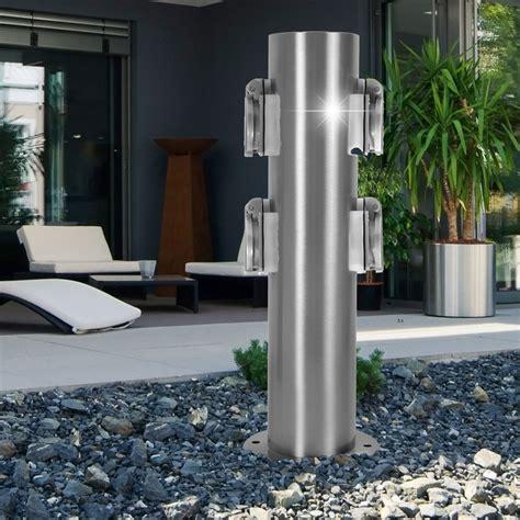 energieverteiler garten energieverteiler mit vier steckdosen in modernem design