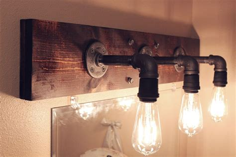 diy industrial bathroom light fixtures home decor