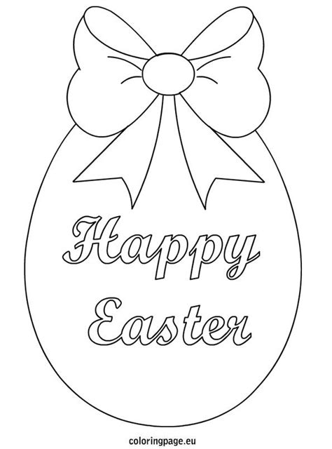 happy easter egg card template 56 best images about easter on coloring shape
