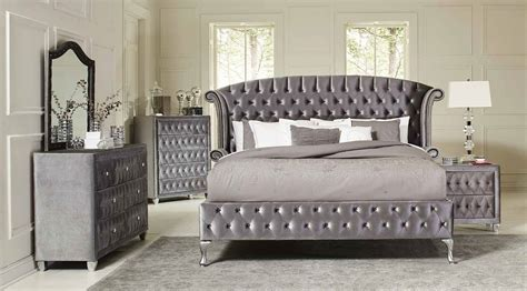 coaster furniture bedroom sets deanna upholstered platform bedroom set bedroom sets