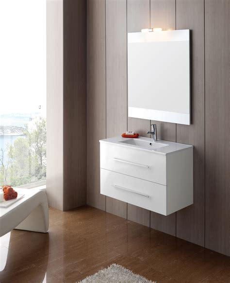meuble salle de bain tiroir meuble salle de bain ancomalin 80 suspendu blanc
