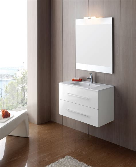 meuble salle de bain ancomalin 80 suspendu blanc