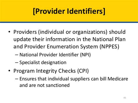 national plan and provider enumeration system nppes open door forum next generation aco model application